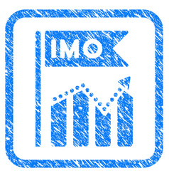 Imo chart trend framed grunge icon vector