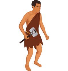isometric caveman vector image