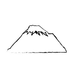 Mountain snow peak natural sketch vector