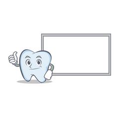 Okay board tooth character cartoon style vector