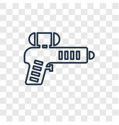 paintball concept linear icon isolated on vector image