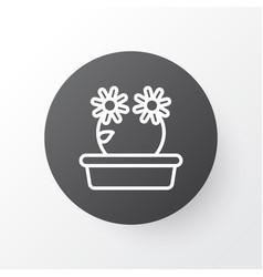 Peony icon symbol premium quality isolated floral vector