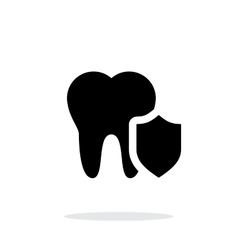 Protected tooth icon vector image
