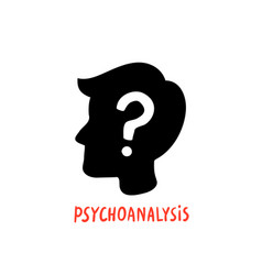 psychology psychoanalysis male character vector image