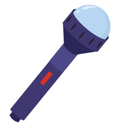 purple flashlight on white background vector image