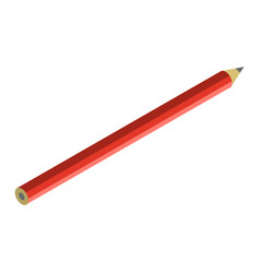 red pencil icon isometric style vector image