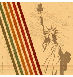 retro statue of liberty vector image