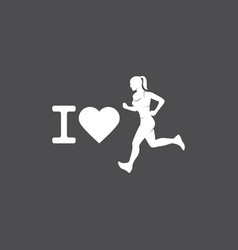 running logo marathon concept sport activities vector image