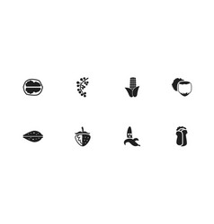 set of 8 editable food icons includes symbols vector image
