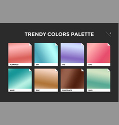 Set of colorful trendy gradient template vector