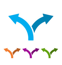 Set of two way direction arrows vector
