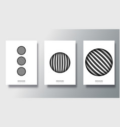 set white backgrounds with striped circle vector image