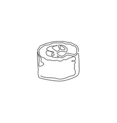 Single continuous line drawing stylized vector