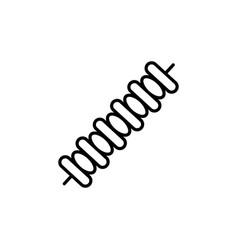 Skewer icon vector