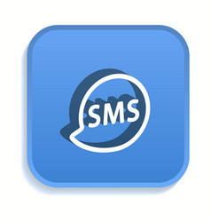 sms isometric icon for graphic and web design in vector image