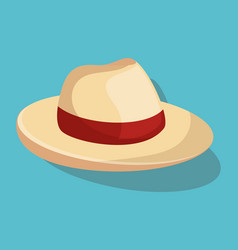 Summer hat fashion isolated icon vector
