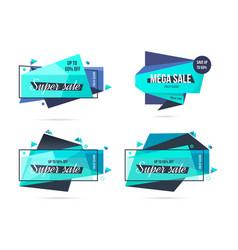 Super sale mega sale and discounts labels set vector