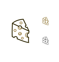 Swiss cheese icon vector