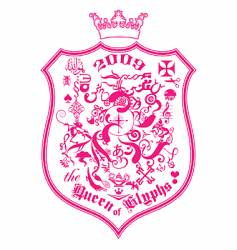 The queen of glyphs vector