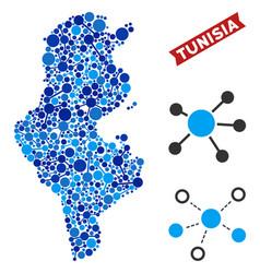Tunisia map links composition vector