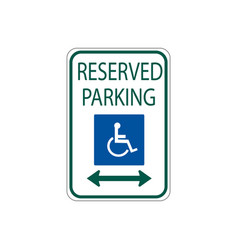 usa traffic road signs disabled parking spot vector image