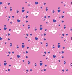 valentines hand drawn seamless pattern-07 vector image