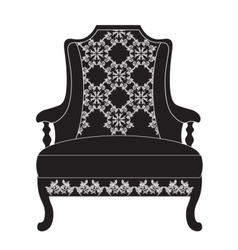 Vintage upholstered armchair vector