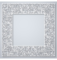 White square decor with shadow on white vector