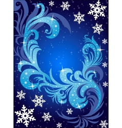 Winter postcard vector image