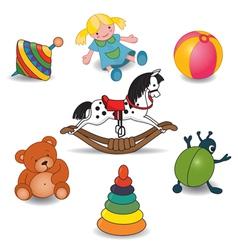 Children Toy Set vector image vector image