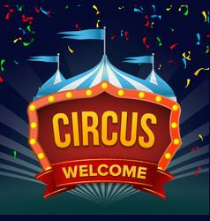 circus sign fun amusement performance vector image vector image