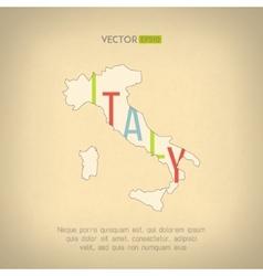 italy map in vintage design Italian border vector image
