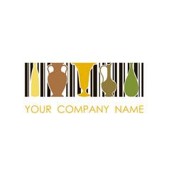 logo for ceramic workshop concept design vector image vector image
