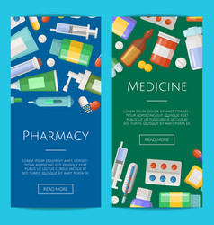 pharmacy or medicines vertical banner vector image vector image