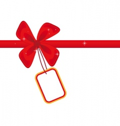 red bow with card vector image vector image