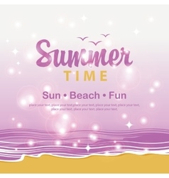 Travel banner summer time vector