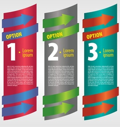 Vertical banner with number vector image