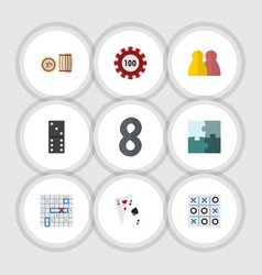 flat icon play set of poker sea fight ace and vector image vector image