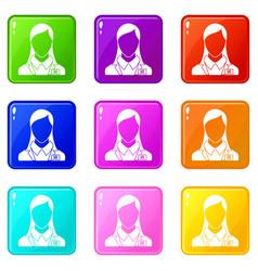 Hr management icons 9 set vector