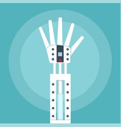 robot arm vector image