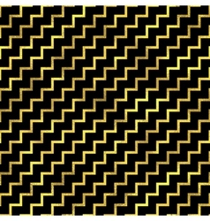 Seamless zigzag pattern Golden fashion vector image