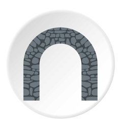 Stone arch icon flat style vector image vector image