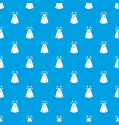 traditional bavarian dress pattern seamless blue vector image vector image