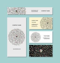 business card design floral mandala vector image vector image