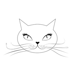 Cartoon cat face vector image