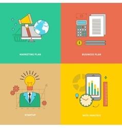 Data Analysis Business Marketing Plan Startup vector image vector image