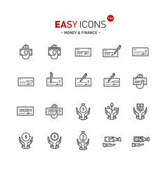 easy icons 13a money vector image