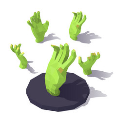 low poly hand of the zombie vector image