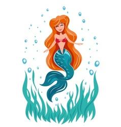 Mermaid fairy tale marine vector image vector image