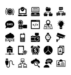 network and communication icons 8 vector image vector image